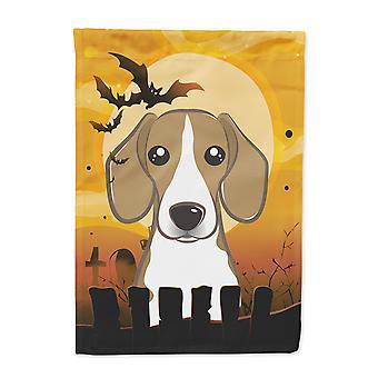 Carolines Treasures  BB1797GF Halloween Beagle Flag Garden Size