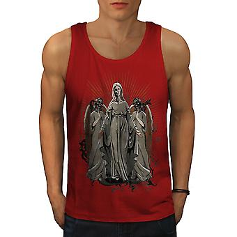 Holy Demon Angel Men RedTank Top | Wellcoda
