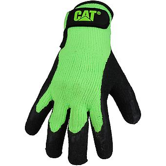 CAT Workwear Mens Latex Coated Contrast Lined Coated Palm Work Gloves