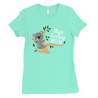 Hohe Koality Mom Womens Mint Baumwolle T-Shirt Mutters Tag-t-Shirt