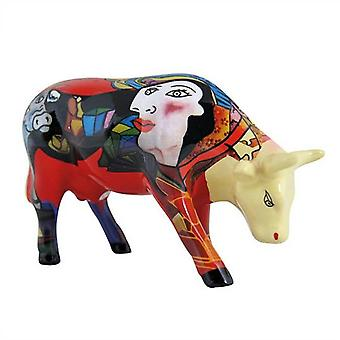 Cow Parade Homage to Picowso's African Period (medium ceramic)