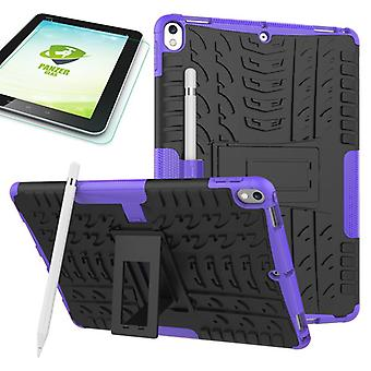 Hybrid outdoor protective case purple for Apple iPad Pro 10.5 2017 bag + 0.4 H9 tempered glass