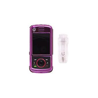 Pack 5 - broche de presión-funda para Motorola_iDEN Nextel Debut i856 - rosa