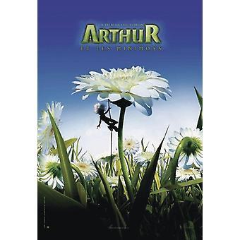 Arthur ja Minimoys juliste valkoinen kukka 98 x 68 cm