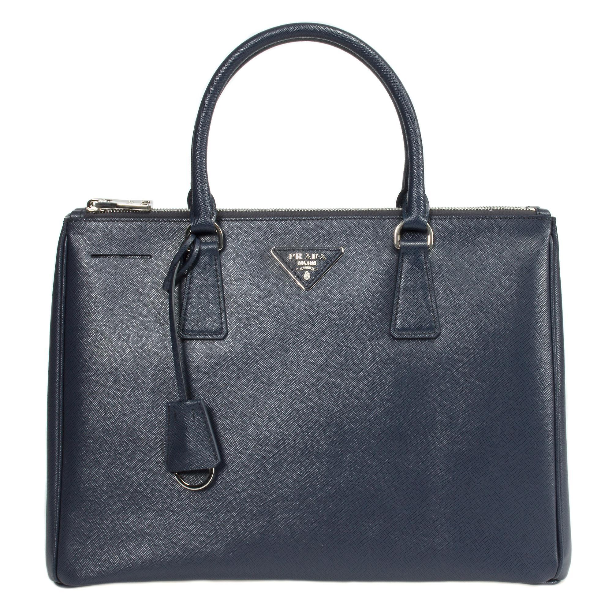 Prada Galleria Saffiano Leather Bag Model 1BA274 | Navy (Baltico) w/ Silver Hardware