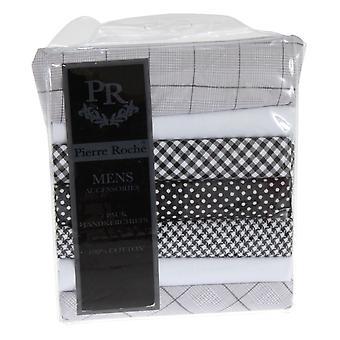皮埃尔·罗切男士 100% 棉质图案手帕 (7 包)