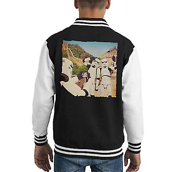 Original Stormtrooper Selfie Great Wall Of China Kid Varsity Jacket
