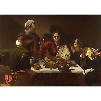 Supper at Emmans,Caravaggio,60x40cm