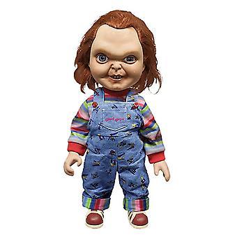 Child-apos;s Play Chucky Doll 15- Good Guy Evil Face coloré, en plastique, avec fonction sonore, par Mezco.