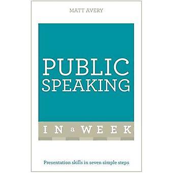 Parlare in pubblico in una settimana - capacità di presentazione in sette semplici passi