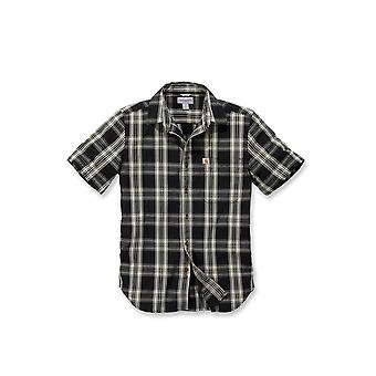 Carhartt men's short-sleeved shirt short sleeve essential open collar Plaid