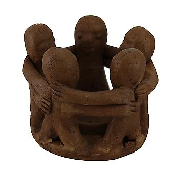 Circle of Friends Circle Terracotta Tea Light Candle Holder