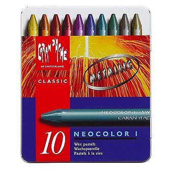 Caran D'Ache Neocolor I Crayon geassorteerde metallic kleuren * * *
