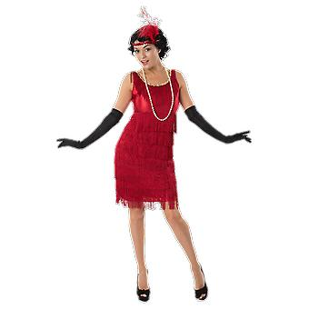 Women's 20s rode Flapper meisje gangster Moll Gatsby Chicago fancy dress kostuum