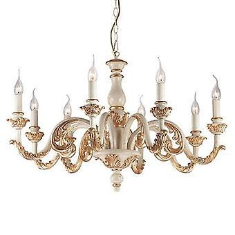 Ideal Lux - Giglio or et blanc finition huit lustre lumière IDL075341