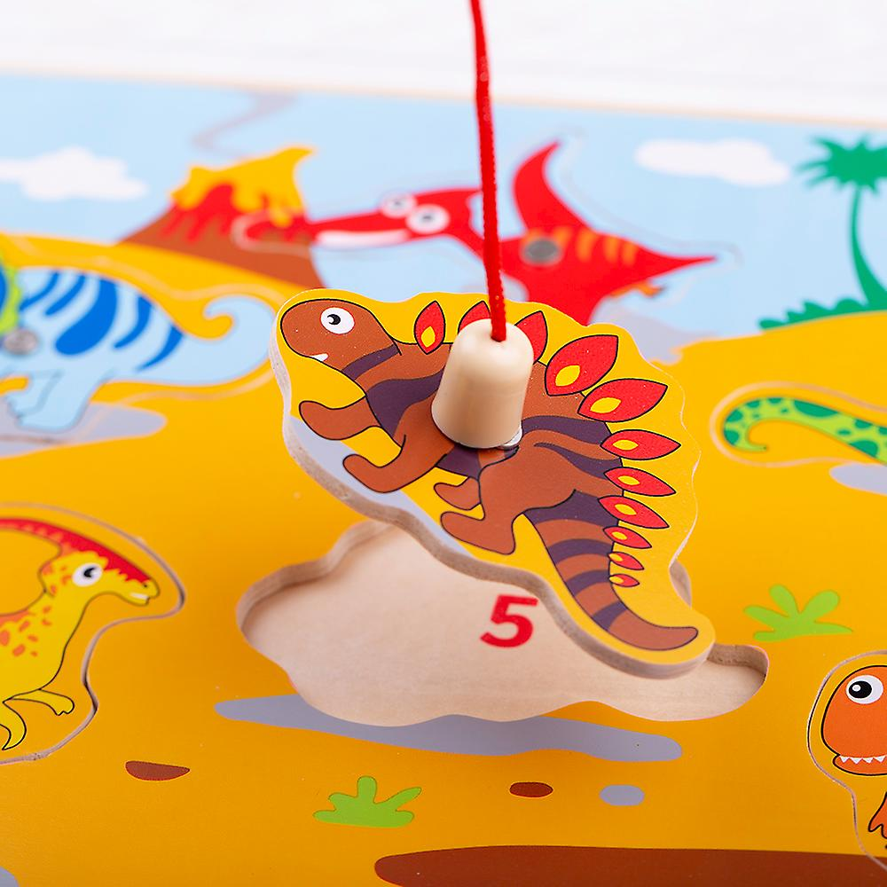 Bigjigs Toys Wooden Magnetic Dino Fun Game with Rods