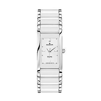 Dugena 4460506-armbandsur, keramik, färg: vit
