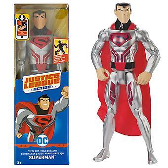 DC Justice League Superman Superman Steel Suit Action Figure 30cm
