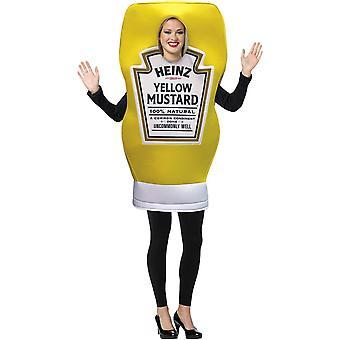 Heinz flaska senap Adult kostym