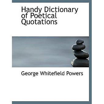 Praktisches Wörterbuch der poetischen Zitaten Befugnisse & George Whitefield