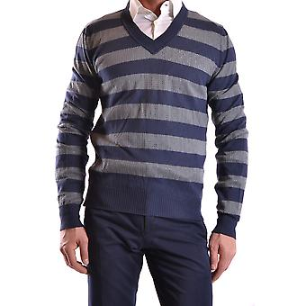 John Richmond Ezbc082025 Men's Blue Cotton Sweater