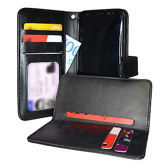 TOP 2in1 Wallet Case & card holder Samsung Galaxy S8 Black