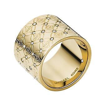 Michael Kors Damen Goldton Barrel Glanz Ring - Mkj4288710
