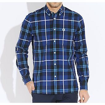 Camisa de manga longa grande cheque M3265-126 Fred Perry masculino