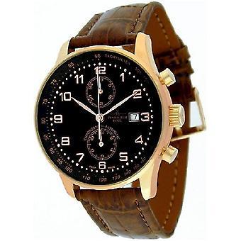 Zeno-watch X-large retro reloj cronógrafo Bicompax P557BVD-PGR-c1