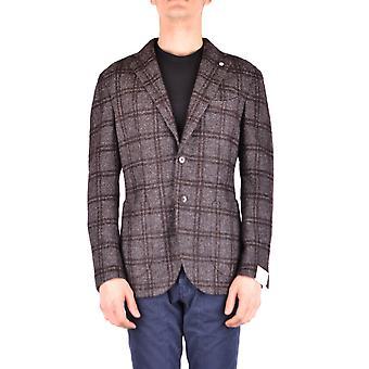 L.b.m. Ezbc215014 Men's Brown Wool Blazer