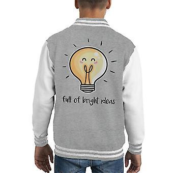 Bright Ideas Lightbulb Kid's Varsity Jacket