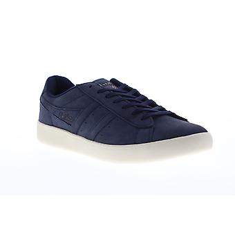 Gola Aztec Nubuck  Mens Blue Nubuck Leather Retro Lifestyle Sneakers Shoes