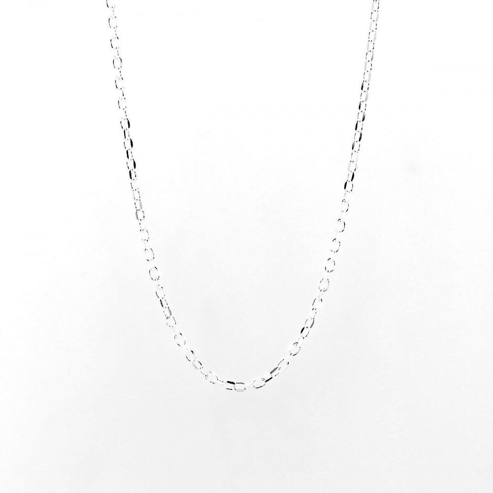 Eternity Sterling Silver 22'' Diamond Cut Belcher Chain