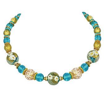 Eternal Collection Caravella Aqua ja kultaa venetsialainen Murano lasi kullan sävy kaula koru