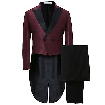 Allthemen Men's Slim Fit 2-Pieces Tuxedo Suit Wedding Prom Party Sequin Grooms wear One Button Suit Jacket
