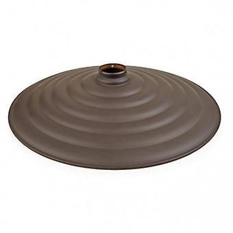 Vintage grote Brown geribbeld metalen schaduw