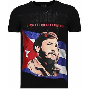 Presidente-Rhinestone T-shirt-Schwarz