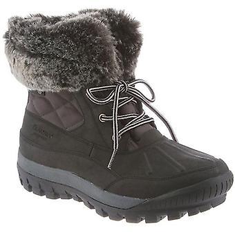 BEARPAW Women's Becka Nylon, Leather, Sheepskin Fur Waterproof Boots