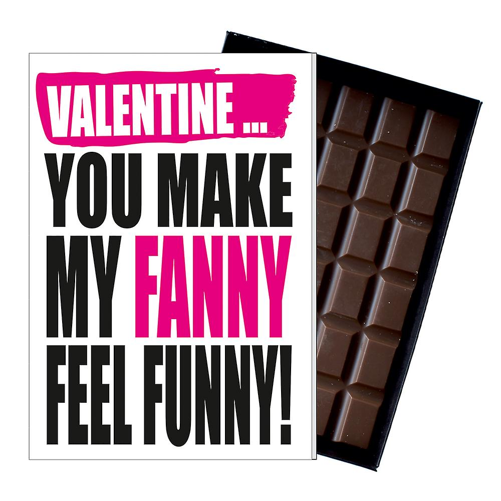 Funny Valentine?s Day Gift For Boyfriend Naughty Present for Men Chocolate Card IYF131