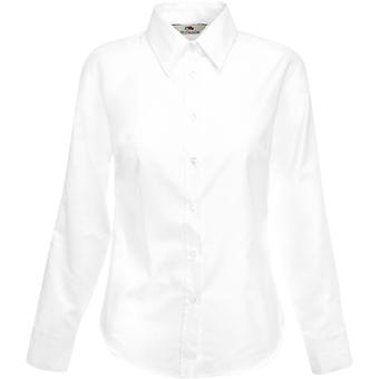 Fruit Of The Loom - Lady-Fit Ladies Oxford Long Sleeve Shirt