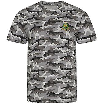 Kings Own Royal Border Regiment - Licensed British Army Embroidered Camouflage Print T-Shirt