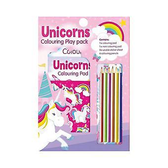 Ensemble d'activités De jeu de coloriage de licorne