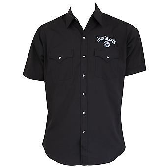 Jack Daniels Black Short Sleeve Button Down Shirt