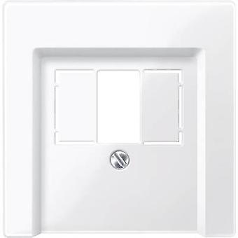 Merten Cover TAE socket System M, 1-M, M-Smart, M-Plan, M-Creativ Polar white glossy 296019