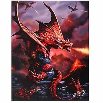 Fire Dragon canvas bild av Anne Stokes
