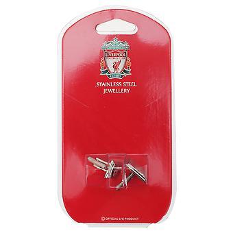 Liverpool FC viralliset ruostumattomasta teräksestä jalkapallo Crest kalvosinnapit
