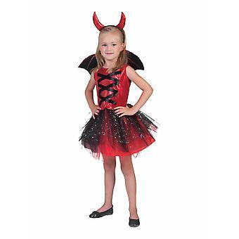 Devil tyttö Tylli mekko lasten puku tyttö halloween Devil puku lapset karnevaali
