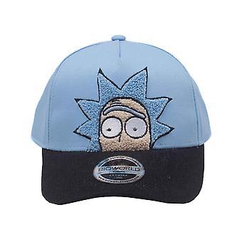 Rick och Morty Baseball Cap Rick Chenille 2D nya officiella blå böjda Bill