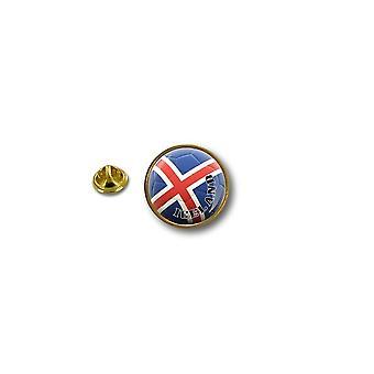Pine PineS PIN rinta nappi PIN-apos; s Metal biker biker lippu ilma pallo jalka Islanti