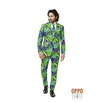 Juicy Jungle Jungle Tropical Suit Costume Slimline Homme 3-Piece Premium